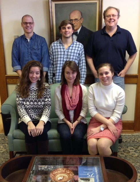 (back row, left to right) Aaron Hayworth, Turner Henderson, and graduate student Rob Shapard. (Bottom left to right) Katie Crook, Coco Wilder, and graduate student Morgan Jones.