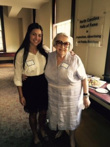 "Victoria Karagiorgis, UNC junior, and interviewee Valarie Lauder, first ""copygirl"" at the Chicago Daily News"