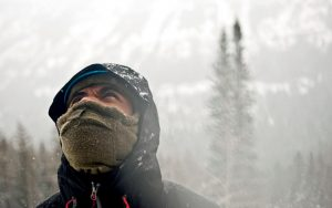 Veteran Demond Mullins on a Montana Ice Climbing Trip. Image credit: Thomas Lee, Sierra Club.
